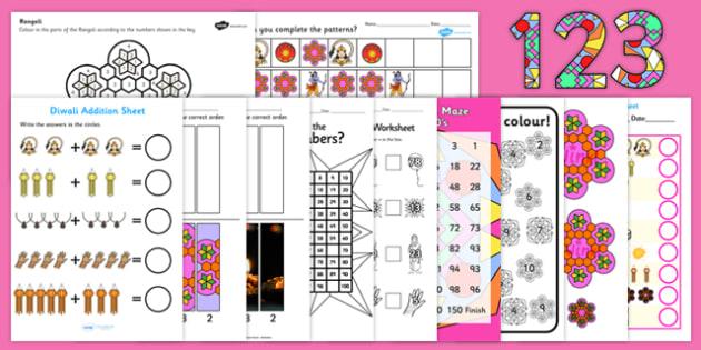 Diwali Themed KS1 Maths Pack - Diwali, Maths packs, resource pack