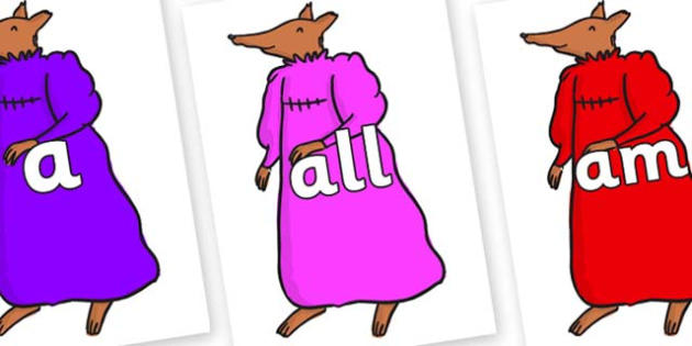 Foundation Stage 2 Keywords on Mrs Fox to Support Teaching on Fantastic Mr Fox - FS2, CLL, keywords, Communication language and literacy,  Display, Key words, high frequency words, foundation stage literacy, DfES Letters and Sounds, Letters and Sound