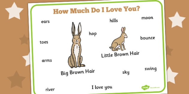 How Much Do I Love You Word Mat - How, Much, Do, Love, Word, Mat