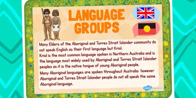 Australia - Aboriginal and Torres Straight Islander People Language Poster