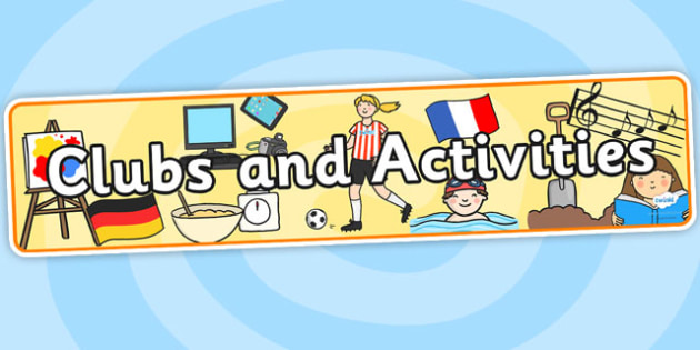 Clubs and Activities Display Banner - clubs and activities, display banner, banner for display, display, banner, header, header for display, display header