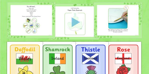 Paper Plate Shamrock Craft Instructions PowerPoint - craft, paper plate, shamrock, instructions, powerpoint