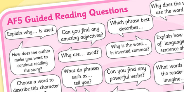 AF5 Guided Reading Question Mat - assessment focus 5 mat, af mat, af5 mat, assessment focus questions, af5 questions mat, assessment focus reading mat, af5