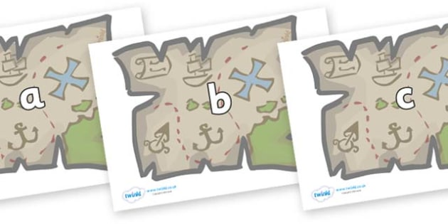 Phase 2 Phonemes on Treasure Maps - Phonemes, phoneme, Phase 2, Phase two, Foundation, Literacy, Letters and Sounds, DfES, display