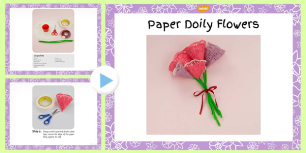 Paper Doily Flowers Craft Instructions Powerpoint Doily Craft