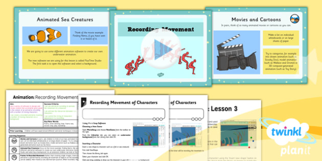 Computing: Animation: Recording Movement Year 4 Lesson Pack 3