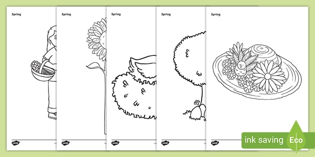 Spring Colouring Sheets  Primary Resources  Twinkl