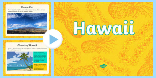 Hawaii Information PowerPoint