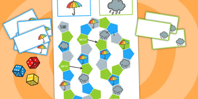 Winter Themed Editable Board Game - games, activities, seasons