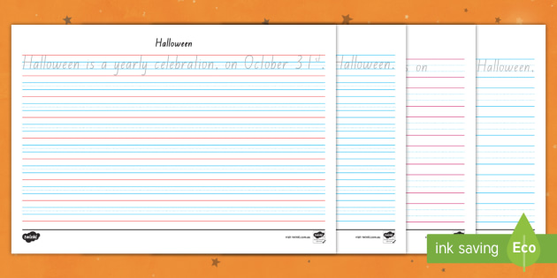 year 3 halloween handwriting practice worksheet worksheet writing letter. Black Bedroom Furniture Sets. Home Design Ideas