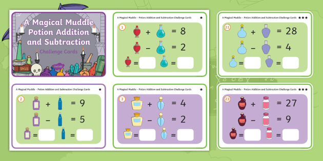 new ks1 a magical muddle potion problem solving addition and subtraction challenge