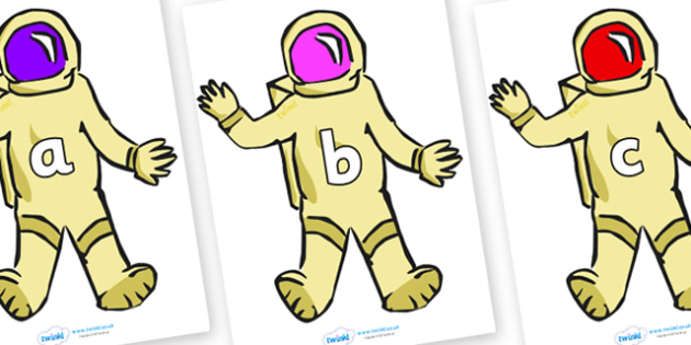 Phase 2 Phonemes on Astronauts - Phonemes, phoneme, Phase 2, Phase two, Foundation, Literacy, Letters and Sounds, DfES, display
