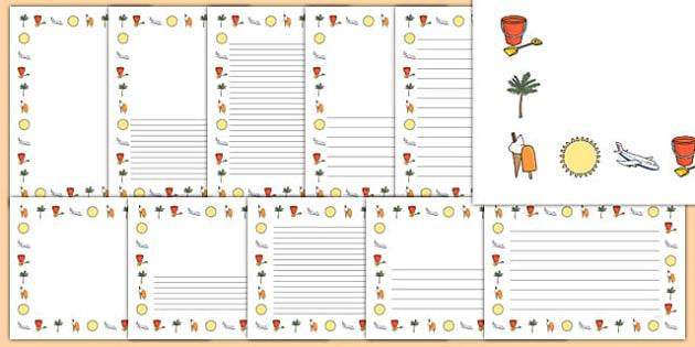 My School Holiday Page Borders - my school holiday page borders, my holiday, my school holiday, page borders, my holiday page borders