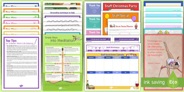 Care Staff Wellbeing Resource Pack - Care Staff Wellbeing, Health, Care, Elderly Care, Care Homes, Staff, Support, Activities, Ideas