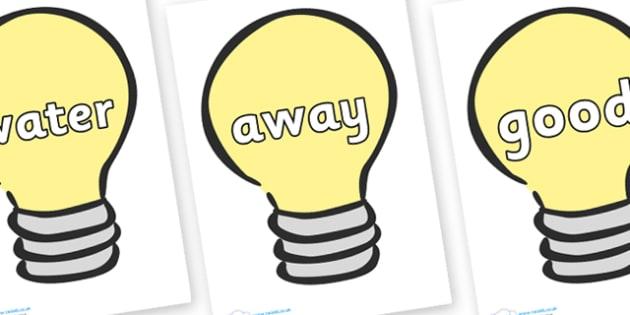 Next 200 Common Words on Light Bulbs (Plain) - Next 200 Common Words on  - DfES Letters and Sounds, Letters and Sounds, Letters and sounds words, Common words, 200 common words