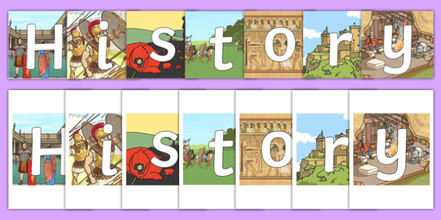 History on Historical Backgrounds Display Cut Outs - history, display, visual aid, topic, humanities, ks2, ks1, cut out, cut, images