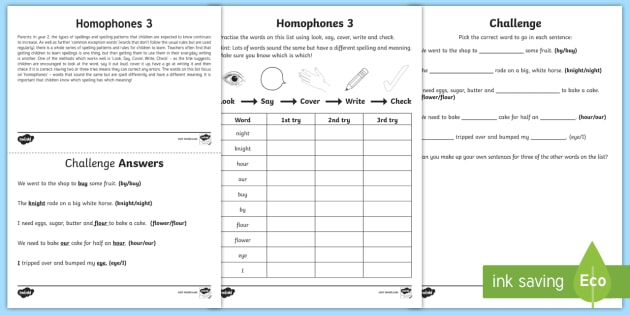 year 2 spelling practice homophones 3 homework worksheet. Black Bedroom Furniture Sets. Home Design Ideas