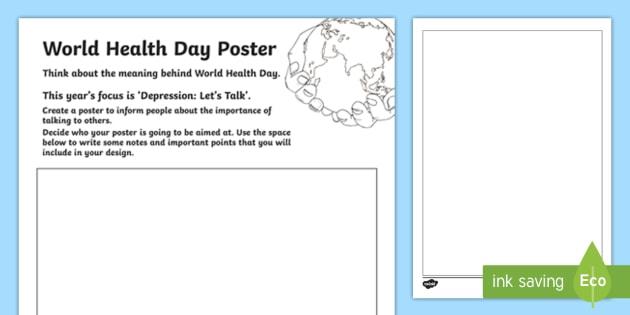 World Health Day Design a Poster Worksheet / Worksheet - CfE ...