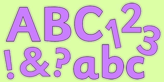 Purple Colour Display Lettering - purple, colour, display lettering, display, lettering