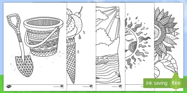 Summer Colouring Sheets Printable Family Fun