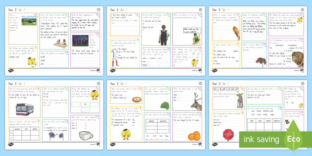 New Zealand Year 5 Spelling, Punctuation and Grammar Set 1 Activity Mats - Literacy, Spelling, Punctuation, Grammar, English, Year 5