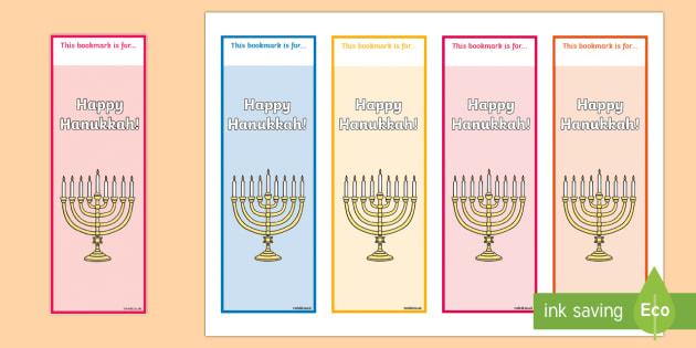 Hanukkah Themed Bookmarks - Hanukkah, Jew, Judaism, celebration, light, festival
