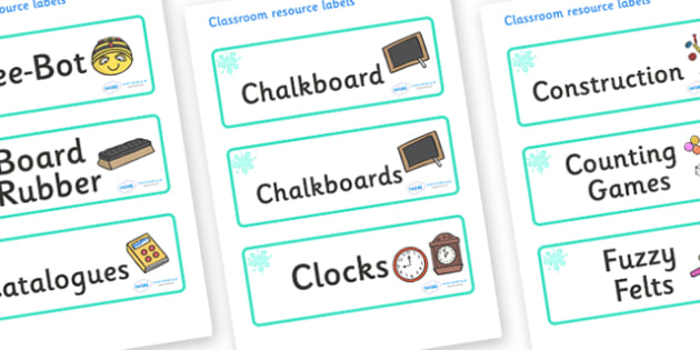 Turquoise Themed Editable Additional Classroom Resource Labels - Themed Label template, Resource Label, Name Labels, Editable Labels, Drawer Labels, KS1 Labels, Foundation Labels, Foundation Stage Labels, Teaching Labels, Resource Labels, Tray Labels