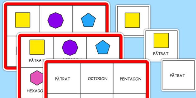 Figuri geometrice plane - Bingo