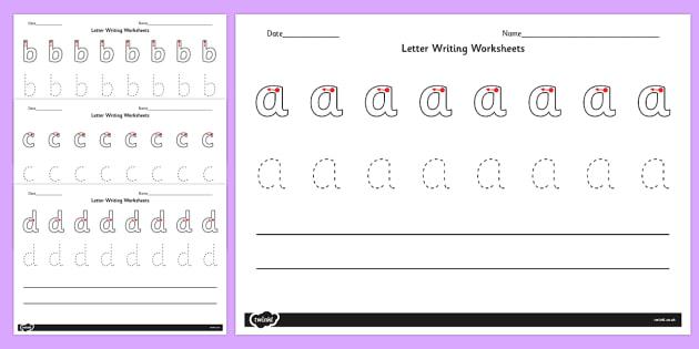 letter writing worksheets a z letter writing worksheets. Black Bedroom Furniture Sets. Home Design Ideas