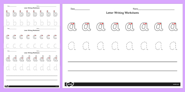 Writing Worksheets AZ letter writing worksheets – A-z Worksheets