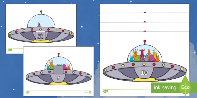 Alien Estimating 1-10 Worksheet / Activity Sheets - EYFS, Early