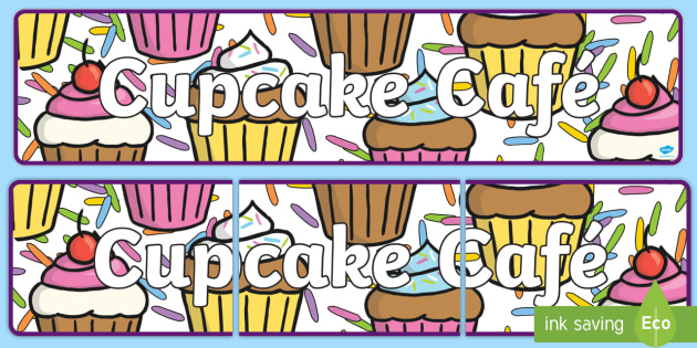 Cupcake Cafe Awning Banner - cafe, cafe role play, awning, role play awning, cafe awning, cupcake cafe banner, cafe banner, role play, roleplay, role-play