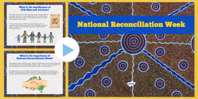 National Reconciliation Week Information PowerPoint - australia, National Reconciliation Week, powerpoint, history, significance, importance, presentation