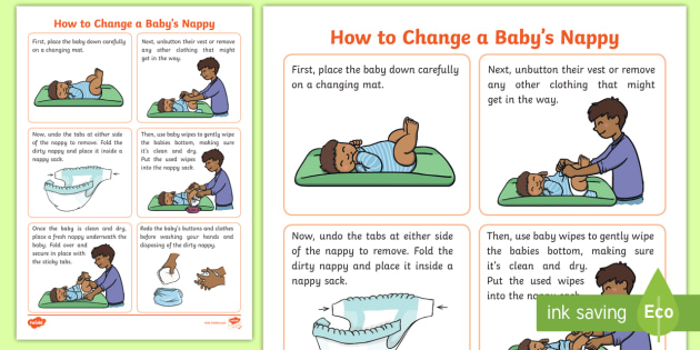 Cfe First How To Change A Nappy Step By Step Instructions