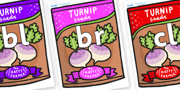 Initial Letter Blends on Seeds - Initial Letters, initial letter, letter blend, letter blends, consonant, consonants, digraph, trigraph, literacy, alphabet, letters, foundation stage literacy