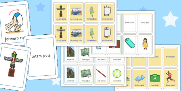 Three Syllable Final 'L' Sound Playing Cards - l sound, final, playing