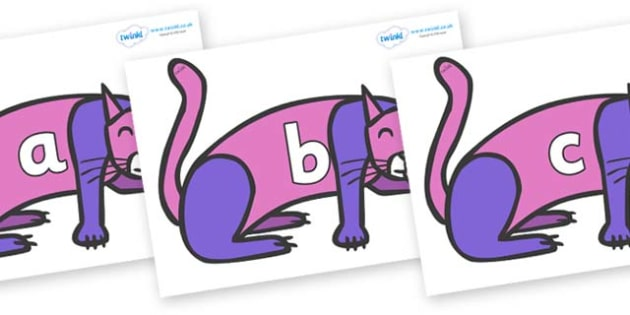 Phase 2 Phonemes on Purple Cat to Support Teaching on Brown Bear, Brown Bear - Phonemes, phoneme, Phase 2, Phase two, Foundation, Literacy, Letters and Sounds, DfES, display