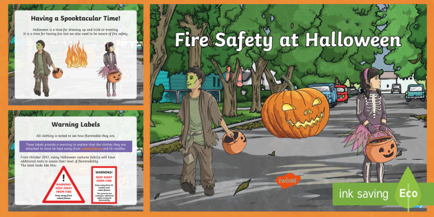 fire safety at halloween powerpoint fire hazard costumes