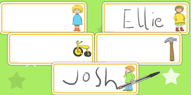 Editable Drawer Peg Name Labels to Support Teaching on Titch - name tags, signs, labels
