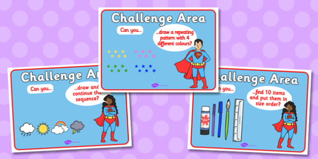Challenge Area Pack Numeracy Challenges - Challenge, gifted and talented, Area Signs, challenges, challenge resources, Banner, Foundation Stage Area Signs, Classroom labels, Area labels, Area Signs, Classroom Areas, Poster, Display, Areas