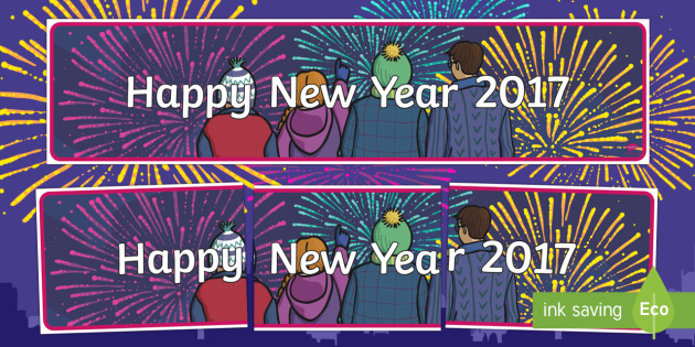 Happy New Year 2017 Banner - New year, new years, New Year's Eve, banner, display, 2017