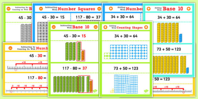 Year 2 Adding and Subtracting 2 Digit Numbers and Tens Display