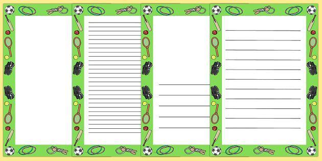 PE Page Borders - PE, page border, physical education, writing