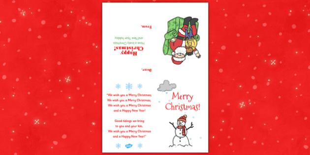 Class Christmas Card - class, christmas card, christmas, card, festival, celebration