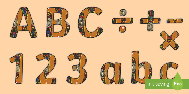 au-m-4157-indigenous-australian-themed-display-lettering_ver_1 Teachers Alphabet Letter Templates on for tracing, medium printable, free printable large,