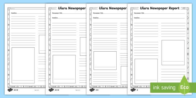 Uluru Newspaper Differentiated Writing Template Ayers Rock