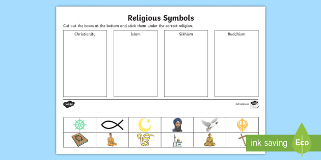 Matching Images >> Religious Symbols and Beliefs Symbol Drawing and Sorting