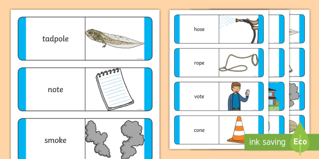 O E Sound Matching Word And Picture Cards Jolly Phonics Phonics