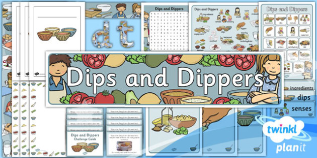D&T: Dips and Dippers KS1 Unit Additional Resources