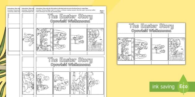 Easter Story-Writing Flap Book English/Polish - Easter Story Writing Flap Book - flap book, easter, story, write, easterstory, easer, easster, eatse